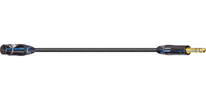 MTI SOUND-SUPREME Digital Micro-Cable TP13, XLR-fem./Klinke 3p., sw, gold