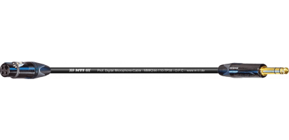 MTI Digital Micro-Cable TP13, XLR-fem./Klinke 3p., sw, gold