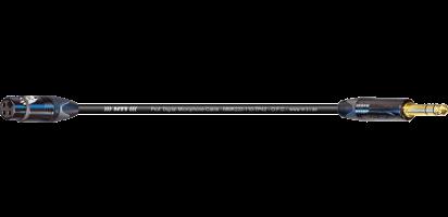 MTI Digital Micro-Cable, XLR-fem./Klinke 3p., schwarz, Goldkte.