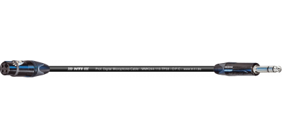 MTI Digital Micro-Cable TP13, XLR-fem./Klinke 3p., sw