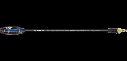 MTI Digital Micro-Cable TP13, XLR-fem./Mini-Klinke 3p., sw., Goldkontakte