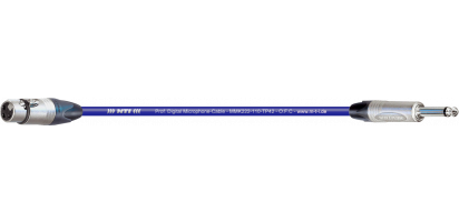 MTI Digital Micro-Cable, XLR-fem./Klinke 3p., blau