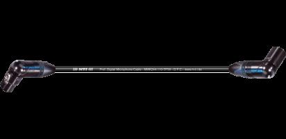 MTI Digital Micro-Cable TP13, Winkel-XLR-fem./Winkel-XLR-male 3p., sw., Goldkontakte