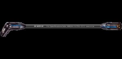 MTI Digital Micro-Cable TP13, Winkel-XLR-female/XLR-male 3p., sw., Goldkontakte