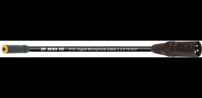 MTI Digital Micro-Cable, Mini-Kl.-Bu.3p./XLR-male 3p.