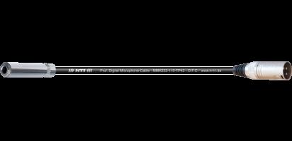MTI Digital Micro-Cable, Kl.-Buchse/XLR-male 3p.