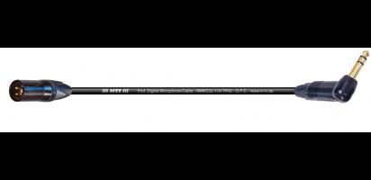 MTI Digital Micro-Cable, XLR-male/Winkel-Kl. 3p. schwarz, Golkte.