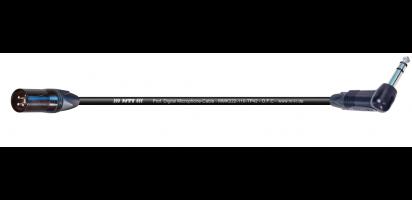 MTI Digital Micro-Cable, XLR-male/Winkel-Kl. 3p. schwarz