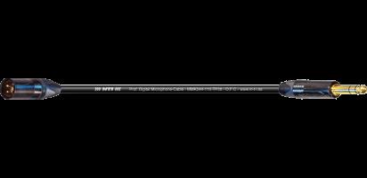 MTI Digital Micro-Cable TP13, XLR-male/Klinke 3p., sw, Goldkontakte