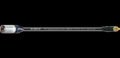 MTI Digital Micro-Cable, XLR-male 3p./Cinch-gold