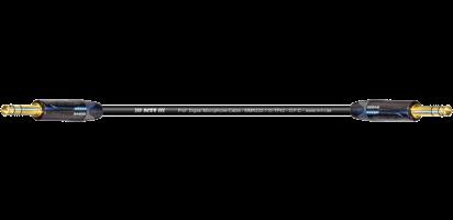 MTI Digital Micro-Cable, Klinke/Klinke 3p., schwarz, Goldkte.