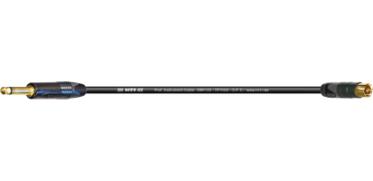 MTI Digital Micro-Cable TP13, Neutrik Klinke 2p./ RCA Cinch, Goldkt.,vorl. Masse