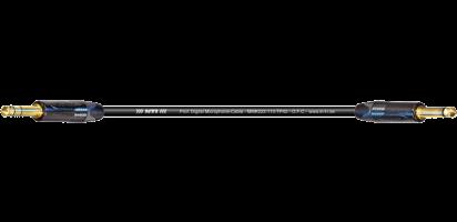 MTI Digital Micro-Cable, Klinke 3p./Klinke 2p.,schwarz, Goldkte.