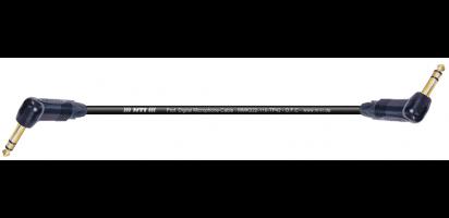 MTI Digital Micro-Cable, 2x Winkel-Klinke 3p. schwarz, Goldkte.