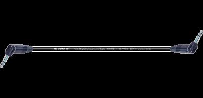 MTI Digital Micro-Cable TP13, Winkel-Klinke/Winkel-Klinke 3p., sw.