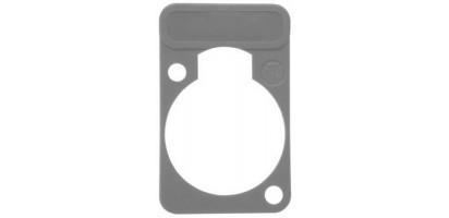 Neutrik Beschriftungsschild Einbau-D-Serie, grau