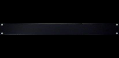19'' U-Rackblende, 1 HE, Aluminium, schwarz eloxiert