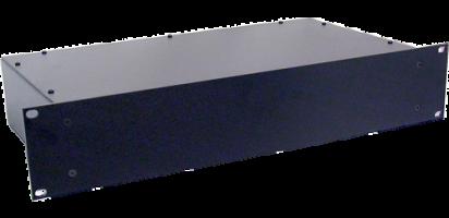 Metallgehäuse, 19'' 2 HE, geschl. Front, 30 cm tief