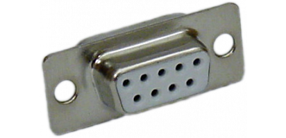 SUB-D-Kontaktträger, 9p. female, Goldkontakt