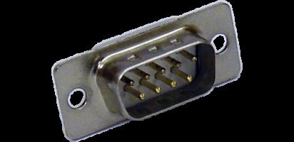 SUB-D-Kontaktträger, 9p. male, Goldkontakt