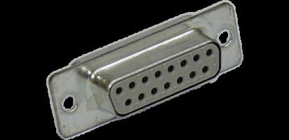 SUB-D-Kontaktträger, 15p. female, Goldkontakt