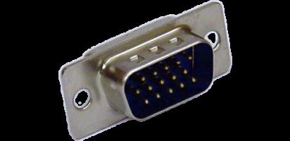SUB-D-Kontaktträger, 15p. male, Goldkontakt, HD