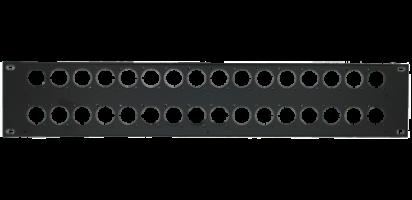 MTI Patch-Panel, 32 Bohrungen - D-Serie