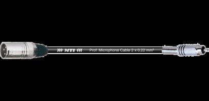 MTI Digital Audio-Adapter, XLR-male 3p./Cinch, 0,2 m