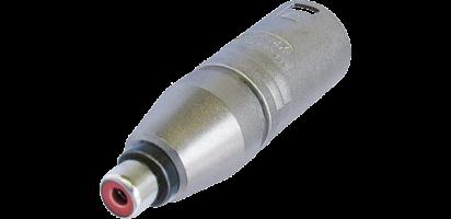 Neutrik Adapter, XLR 3p. Stecker-Cinchbuchse