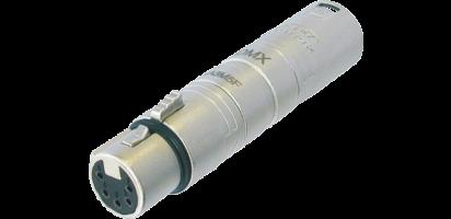 Neutrik Adapter, XLR 3p. Stecker-XLR 5p. Buchse