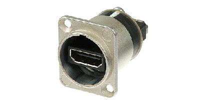 Neutrik HDMI-Einb.-Durchgangsverb., D-Serie