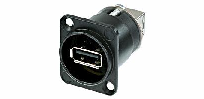 Neutrik USB-Einbau-Durchgangsverbinder,D-Serie,SW