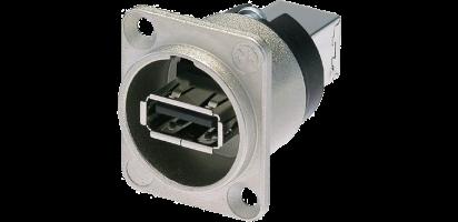 Neutrik USB-Einbau-Durchgangsverbinder,D-Serie