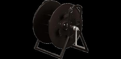 Schill Metall-Kabeltrommel, schwarz mit Wickelaufsatz