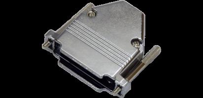 Sub-D25-pol. Vollmetall-Haube, 10 mm