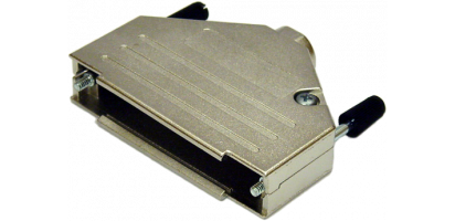 Sub-D37-pol. Vollmetall-Haube, EMV, Randallschrauben