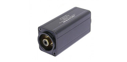 Neutrik Adapter, XLR-male 3p., Cinch-Bu., sw., trafosym.