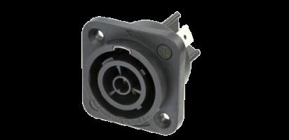 Neutrik powerCON TRUE1, Einbaubuchse, Power-Out, 6.35 mm Flachsteckzungen
