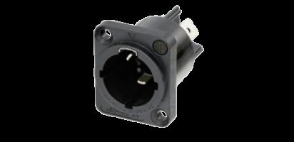 Neutrik powerCON TRUE1, Einbaubuchse, Power-In, 6.35 mm Flachsteckzungen