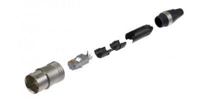 Neutrik Ethercon Cat 6 Kabelstecker, Nickel, IP65