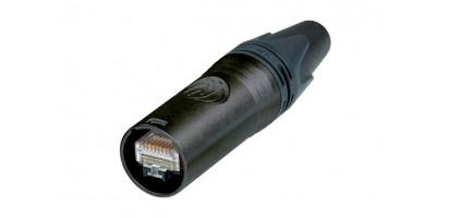 Neutrik Ethercon Cat 6a Kabelstecker, schwarz, AWG24/7-AWG22/7