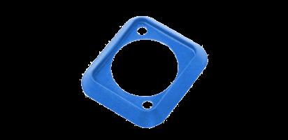 Neutrik Dichtung für D-Form Einbaustecker, wasser- und staubdicht, blau, IP44