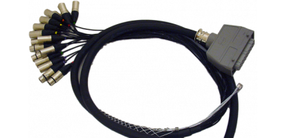 Spliss-Adapter, 8x XLR-fem., HAN24 female, PUR, 2,5 m
