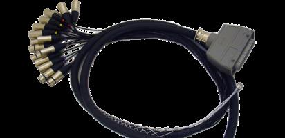 Spliss-Adapter, 16x XLR-male/4x XLR-fem, HAN64 male, PUR, 2,5 m