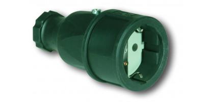MTI-Schuko-Kupplung Gummi, IP20, SW, 220 V