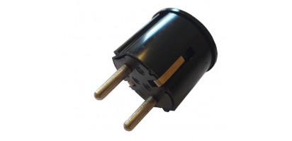 MTI-Winkel-Schuko-Stecker, PVC, SW, 220 V