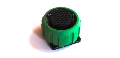 TL-Einbaubuchse, 37p., mit Gummi Ü.-Mutter grün
